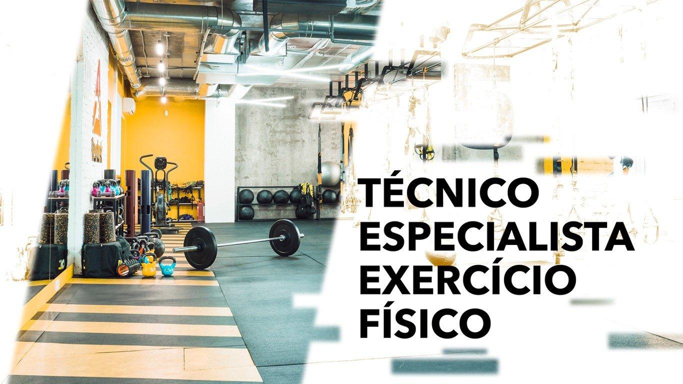 técnico especialista exercício físico